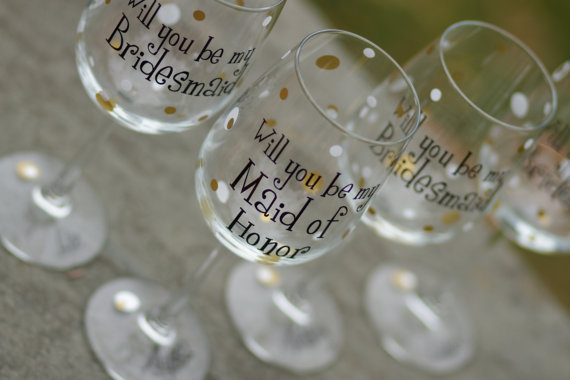 The Event Group | Pittsburgh, PA | event planner | wedding planner | how to ask your bridesmaids | bridal party | wine glass