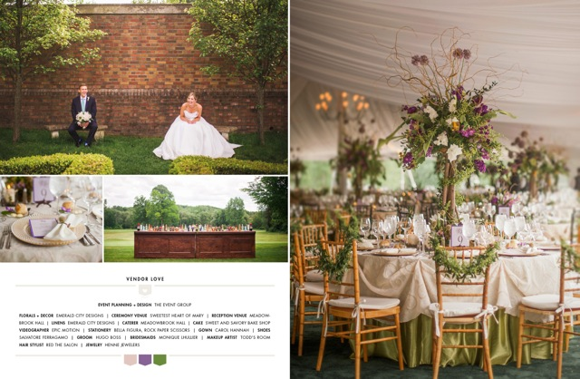 Smitten Magazine Spread | The Event Group, Pittsburgh Wedding and Event Planners