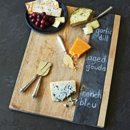 Entertaining Essentials: Wood and Slate Cheese Board | The Event Group, Pittsburgh Wedding and Event Planners